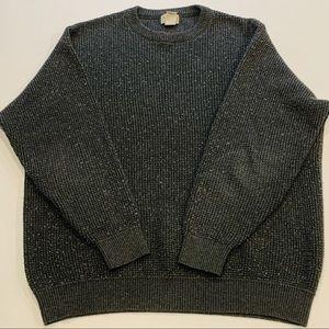 Men's LL Bean Cotton Wool Blend Sweater, Size XL